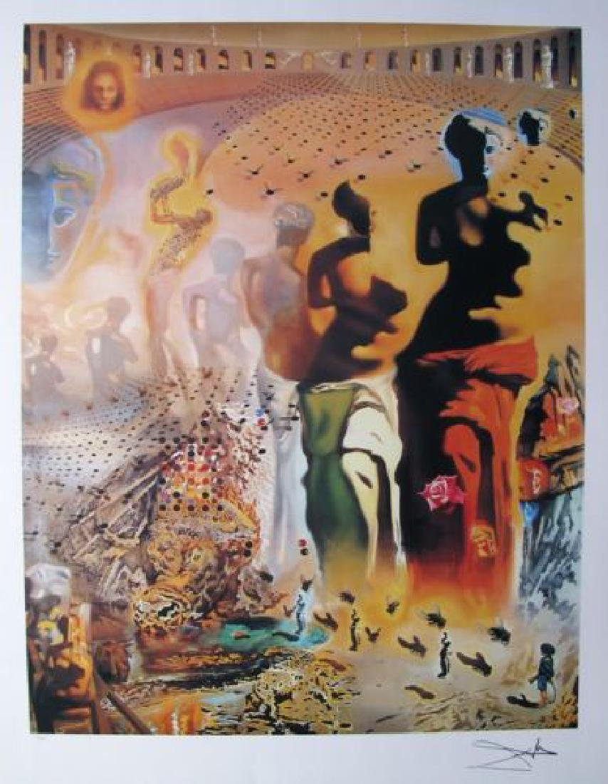 """Salvador Dali """"Hallucinogenic Toreador"""" L/E Lithograph"""