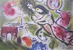 Marc Chagall Romeo Juliet Lithograph Facsimile Sig