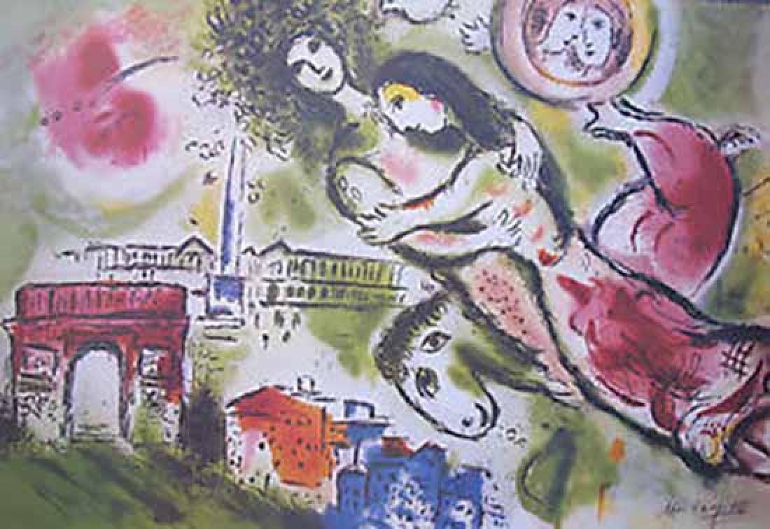 "Marc Chagall ""Romeo & Juliet"" Lithograph Facsimile Sig."