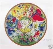 Chagall Paris Opera Ceiling Lithograph Facsimile