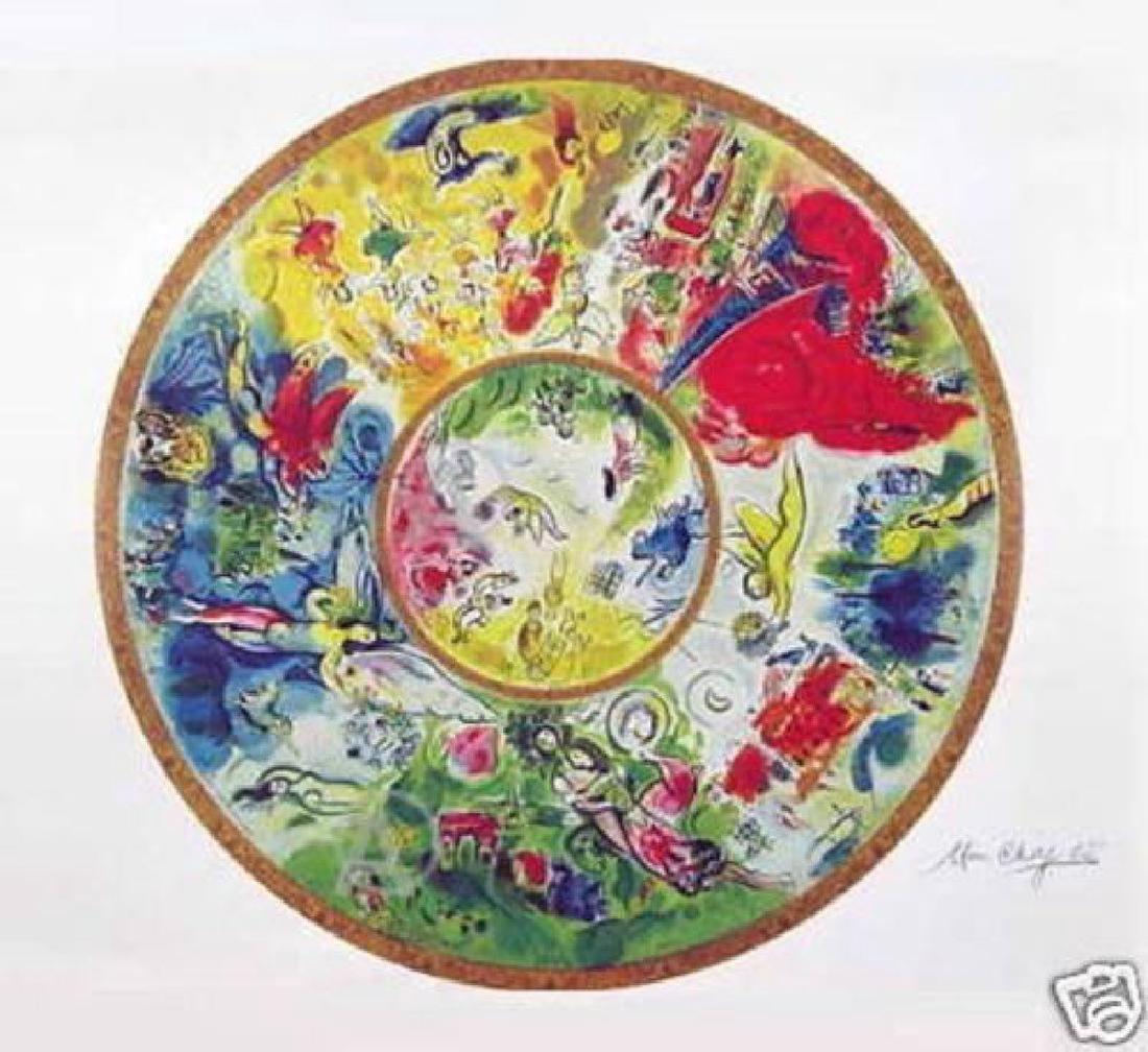 """Chagall """"Paris Opera Ceiling"""" Lithograph Facsimile"""