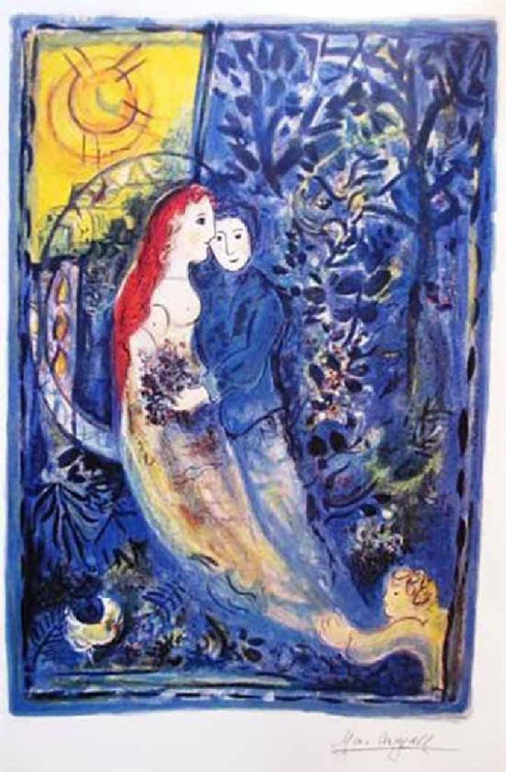 """Chagall """"The Wedding"""" Lithograph Facsimile signed"""