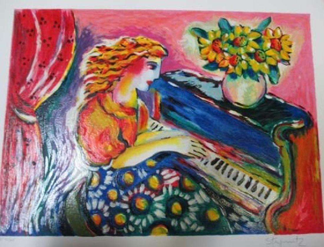 "Zamy Steynovitz ""Pianist in Bloom"" Signed Numbered seri"