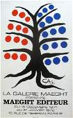 Alexander Calder Tree with Blue and Red Fruits
