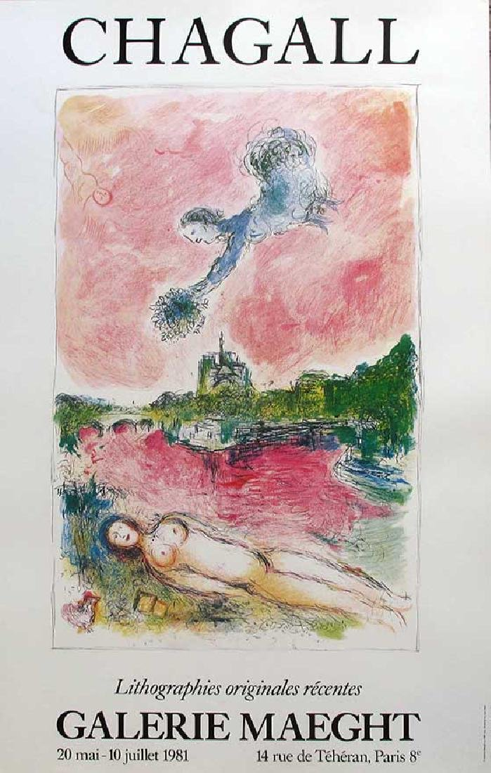 "MARC CHAGALL ""Derriere Le Miroir"" ORIGINAL EXHIBITION"