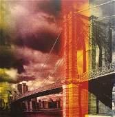 Steve Kaufman Title Brooklyn Bridge serigraph on