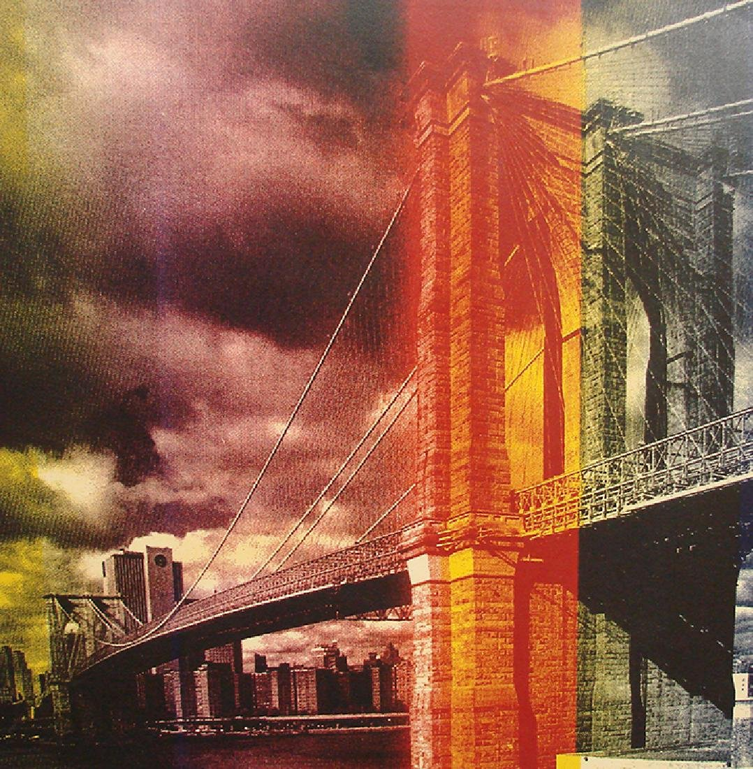 Steve Kaufman, Title: Brooklyn Bridge, serigraph on