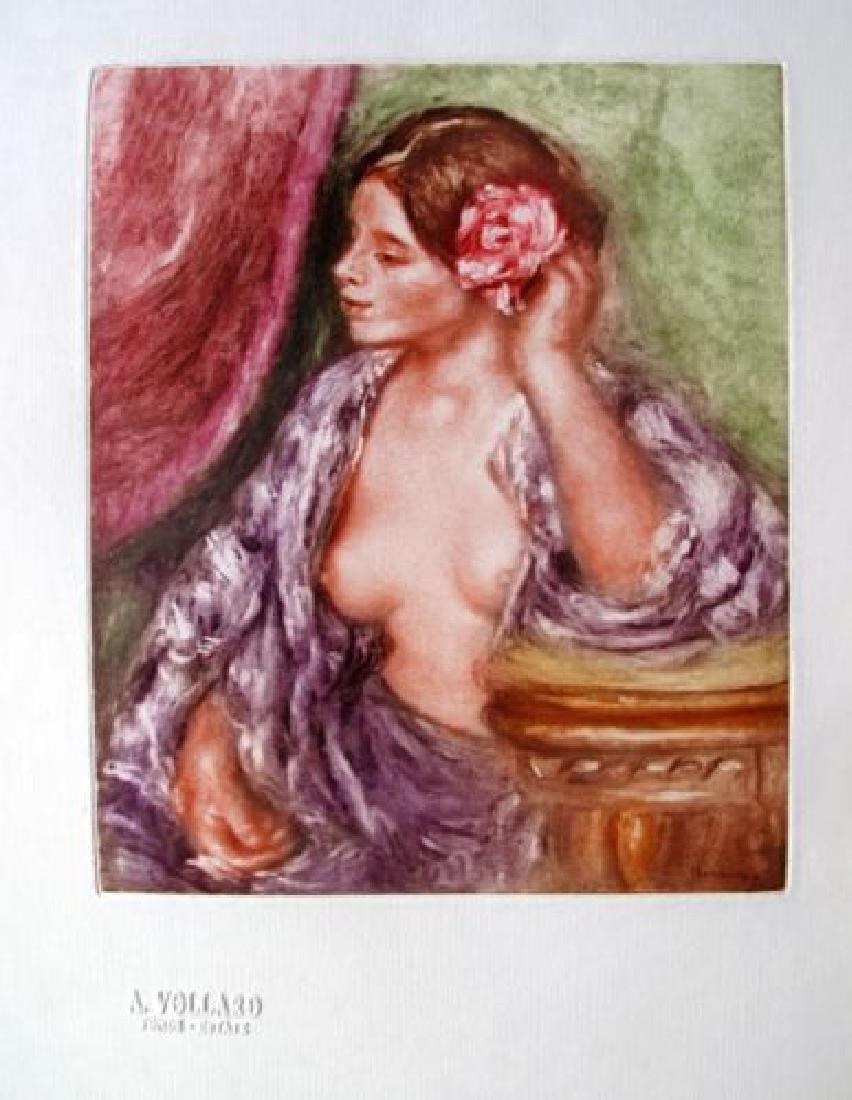 Renoir FEMME A SA COIFFURE Etching Ambroise Vollard