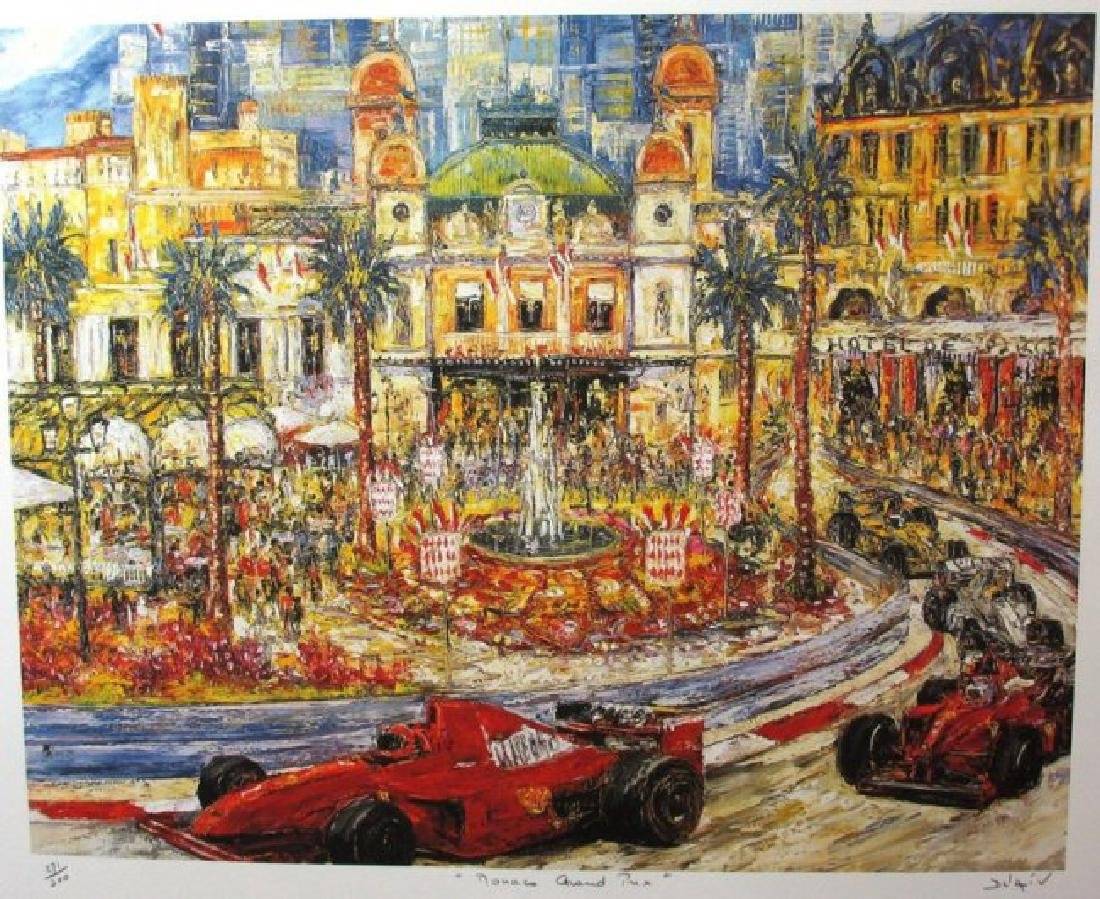 "DUAIV(French) ""Monaco Grand Prix"" HS/N Lithograph"