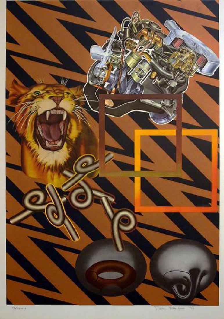 Peter Phillips, Safari (Gold) 1971, Lithograph Pencil
