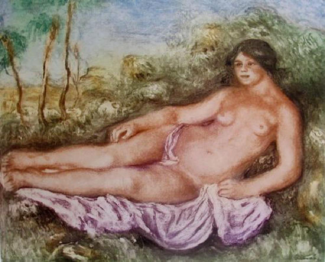 Pierre-Auguste Renoir FEMME NUE ETENDUE Etching