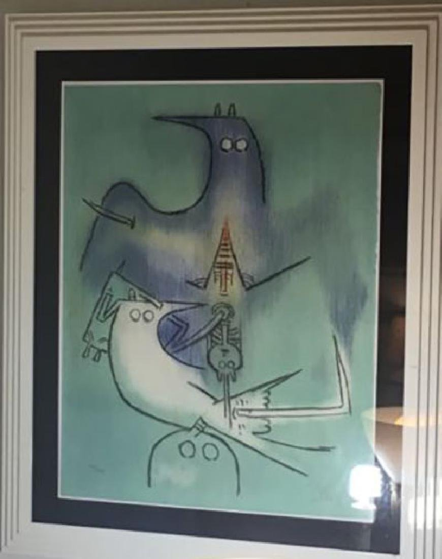 Wifredo Lam Cuban, hand signed and numbered Lithograph