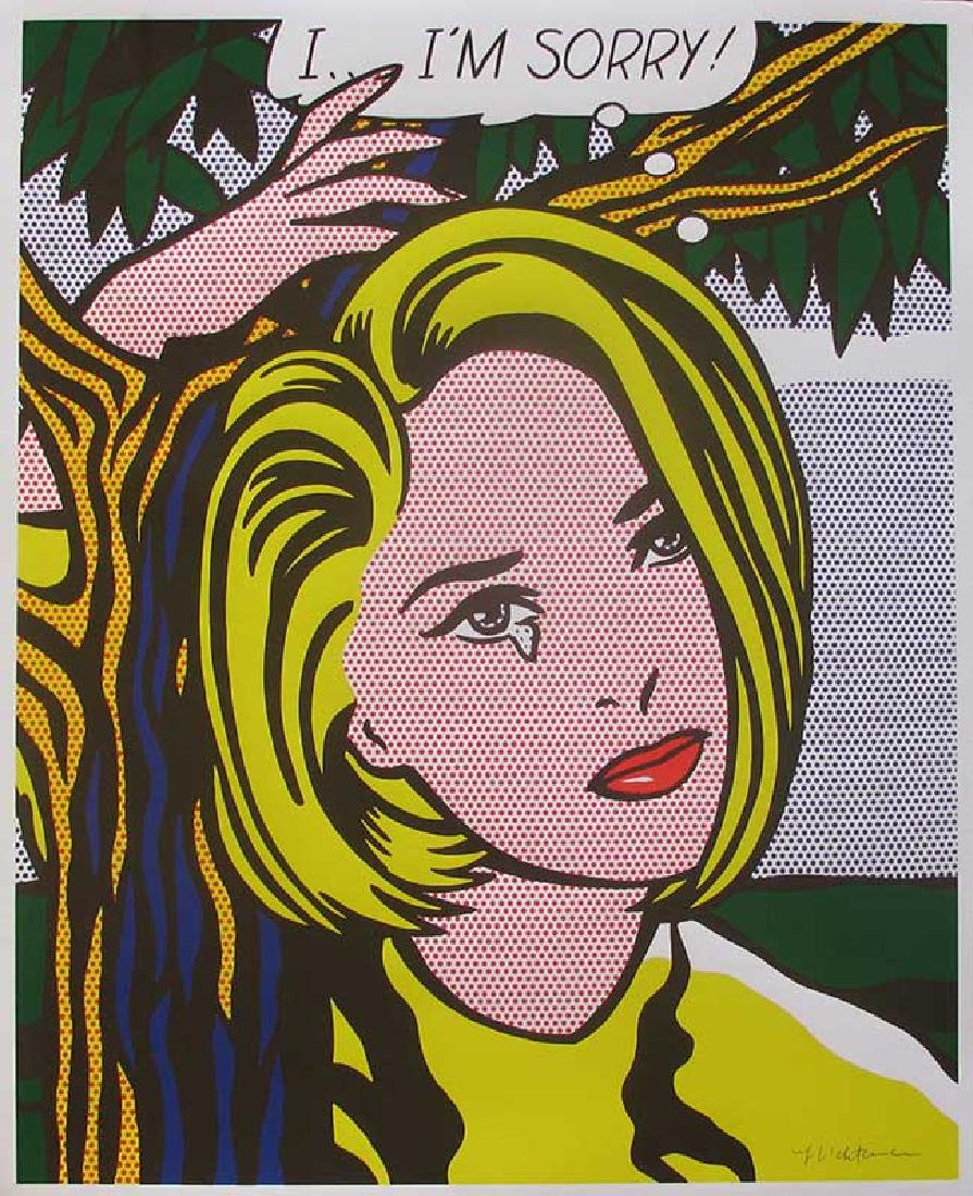 Roy Lichtenstein I...I'm sorry, Offset lithograph