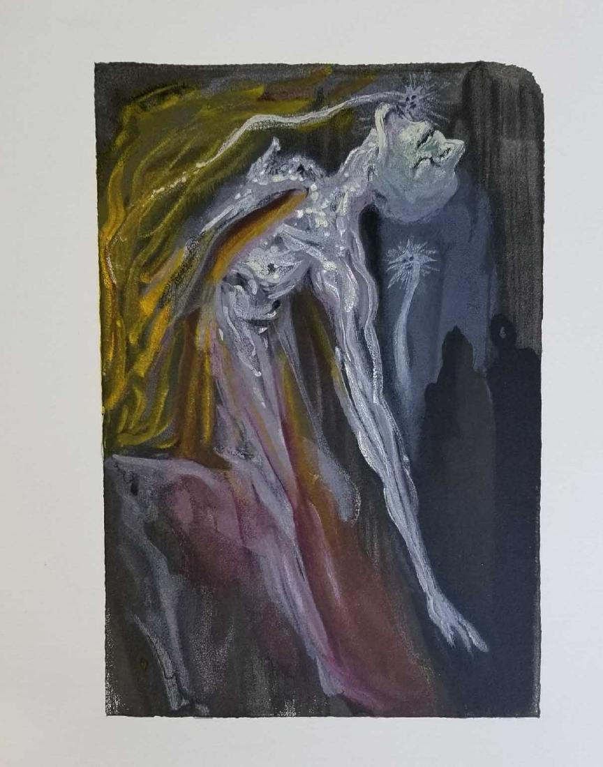 "Salvador Dali ""Erinnyes"" Divine Comedy Suite Woodcut"