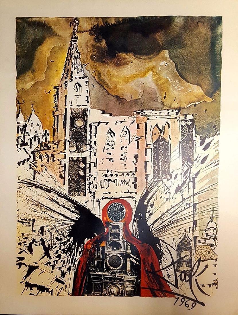 Salvador Dali Vintage Poster Chemins de fer franais