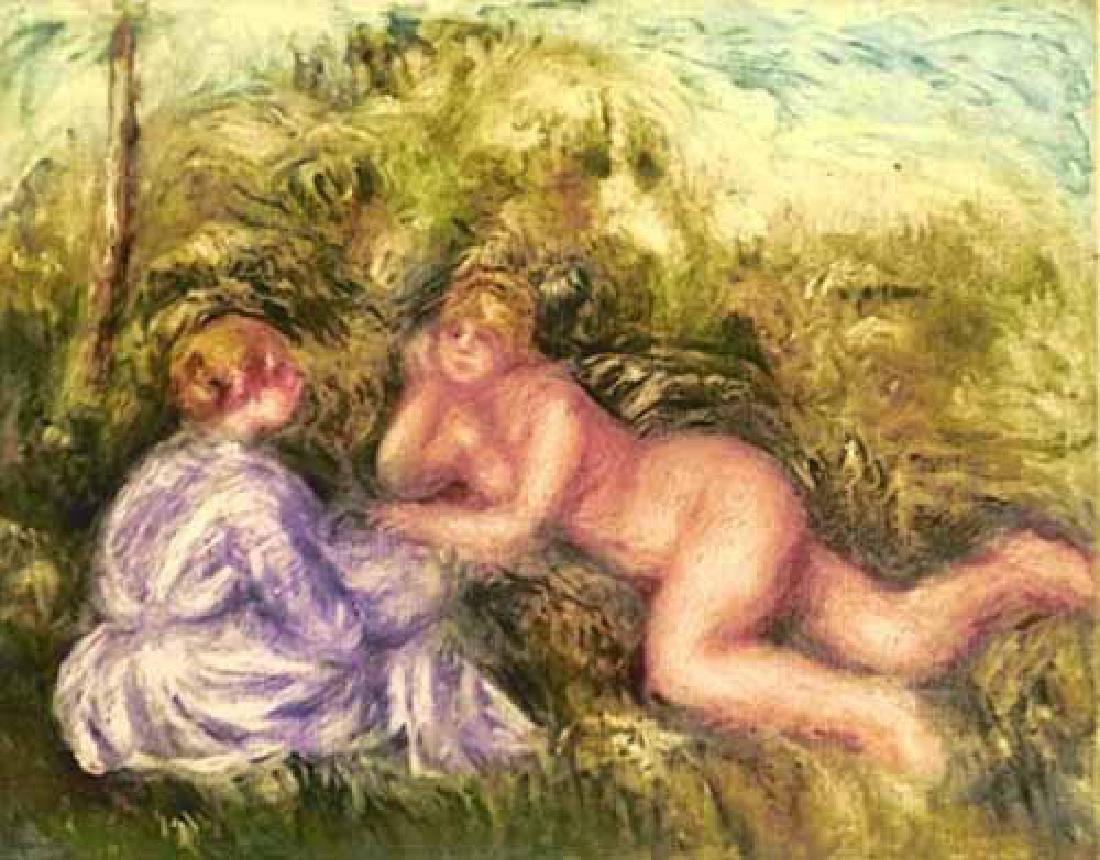 Pierre-Auguste Renoir, Etching Apres Le Bain A Ambroise