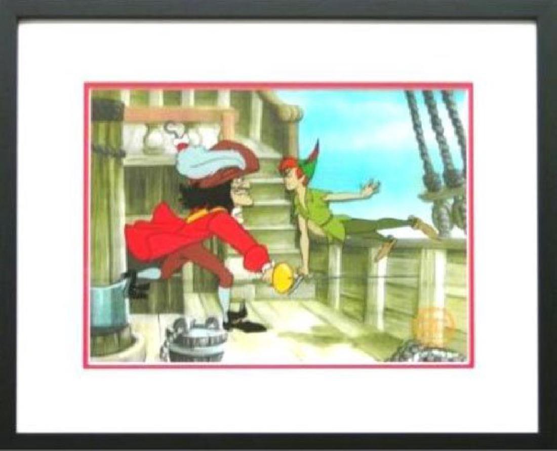 """Disney Framed Animation Cel """"Peter Pan"""" free backround"""