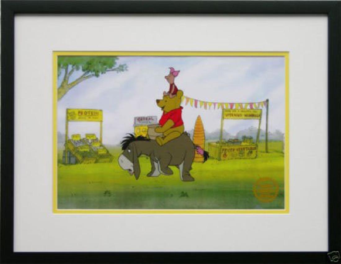 Disney Framed Animation Cel Winnie The Pooh Piglet