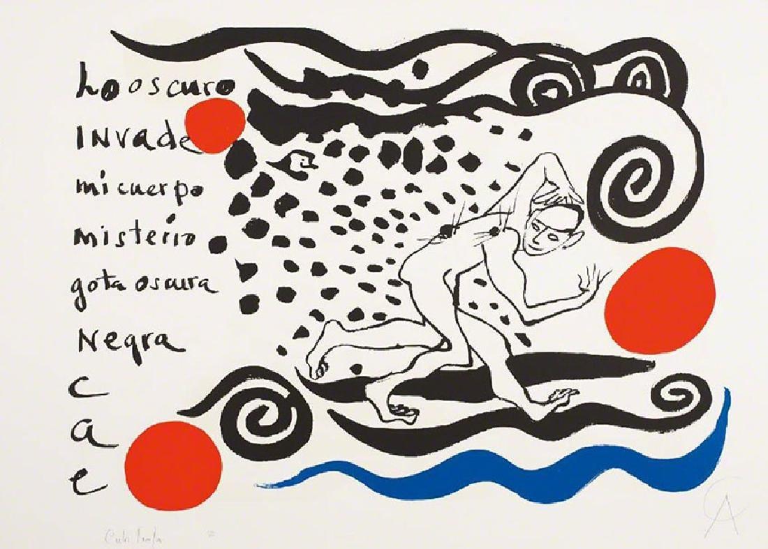 """Alexander Calder & Carlos Franqui  """"Lo Oscuro Invade"""""""