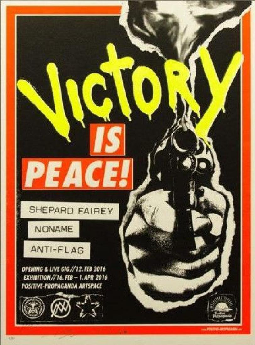 Shepard Fairey Victory is Peace 2016 signed and