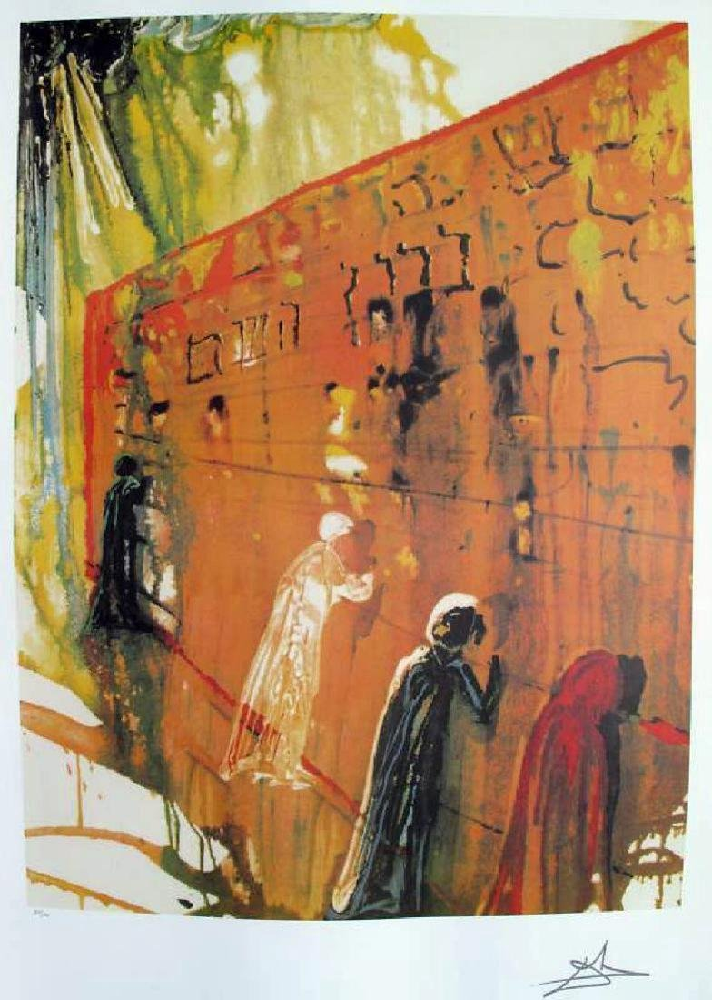 "Salvador Dali ""WAILING WALL"" Limited Edition Lithograph"