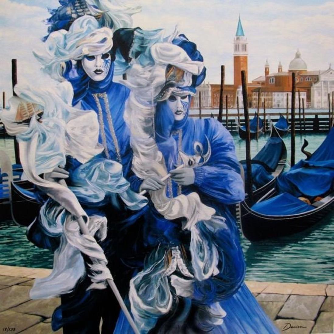 """Graham Denison, """"Let Carnival Begin Embellished giclee"""