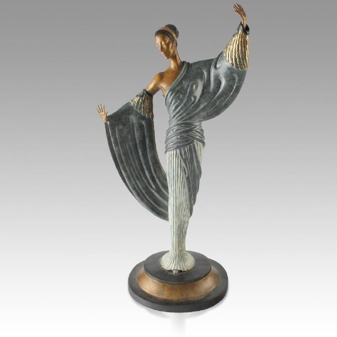 "Erte Bronze Sculpture ""In the Evening"" List price"