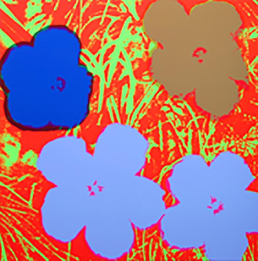 ANDY WARHOL FLOWERS 11.69 SERIGRAPH SUNDAY B. MORNING