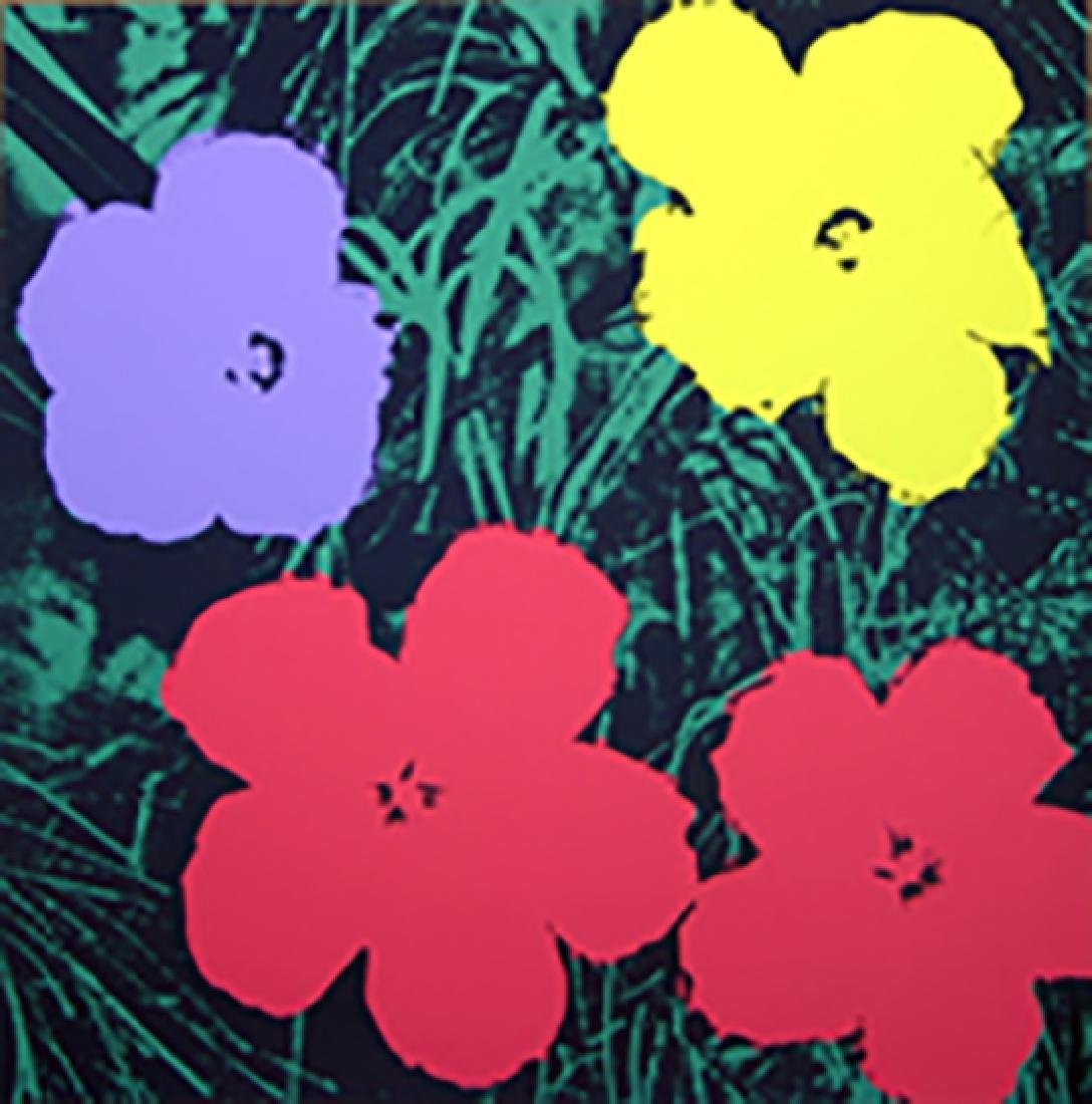 ANDY WARHOL FLOWERS 11.73 SERIGRAPH SUNDAY B. MORNING
