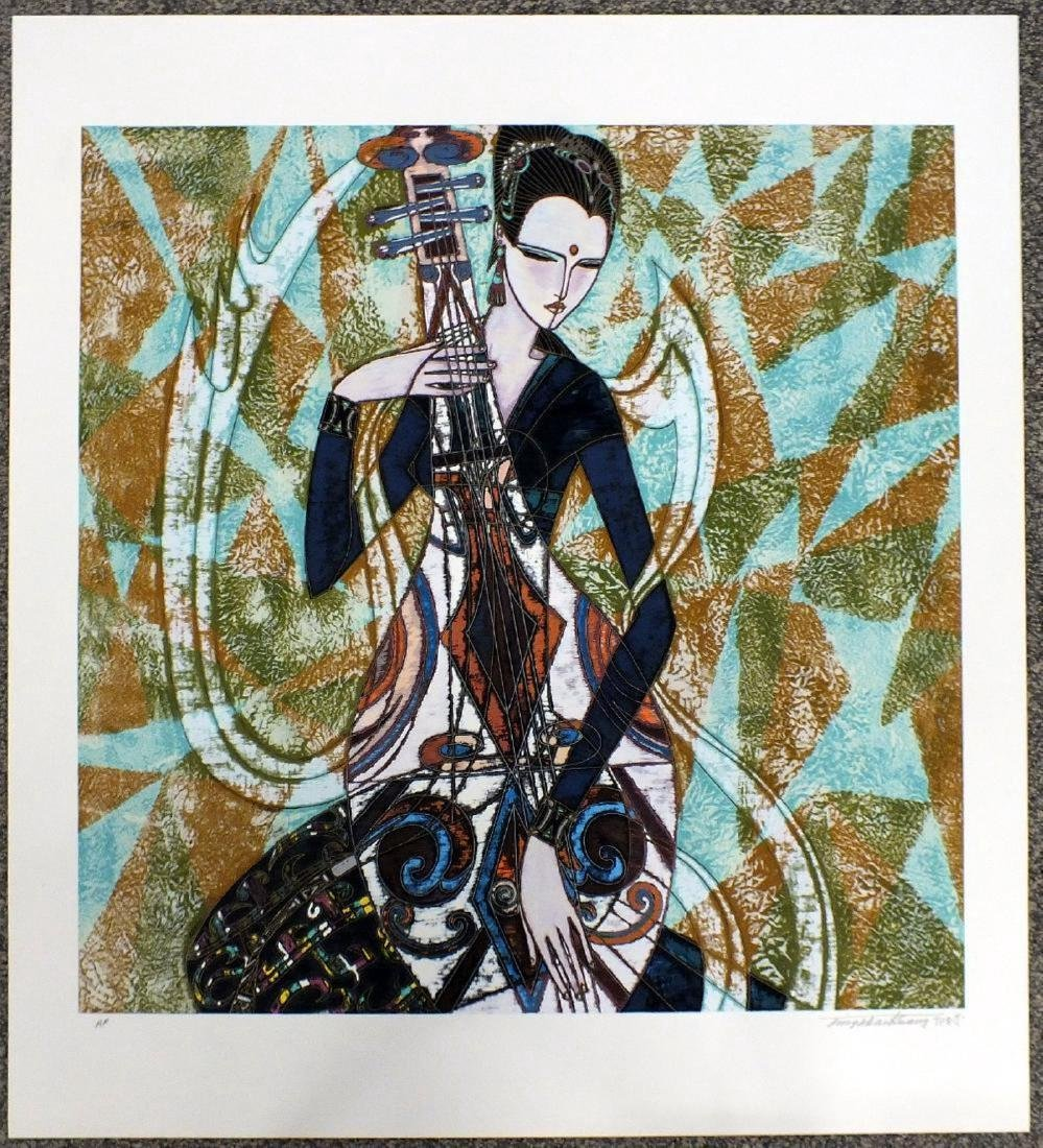 "Ting Shao Kuang Serigraph ""Patterns"" Hand signed and"
