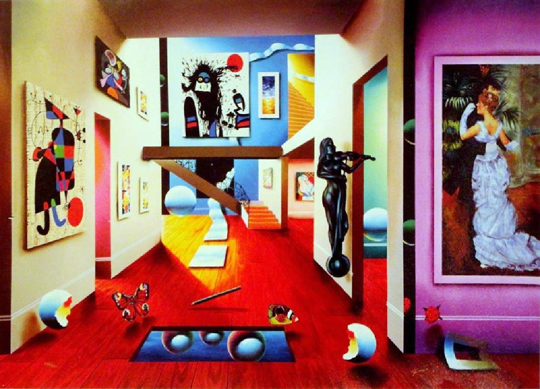 """Ferjo """"Homage to the Masters"""" Surreal Giclee Canvas"""