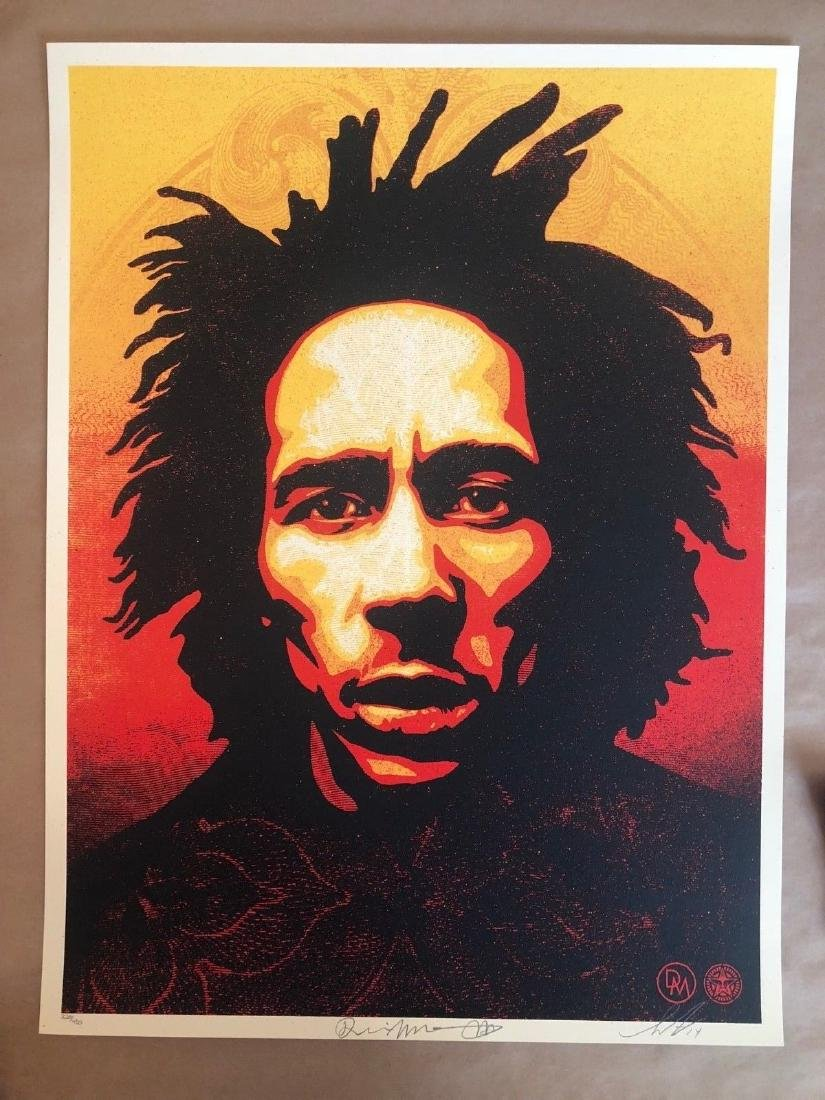 Shepard Fairey Bob Marley 2014 Signed and Numbered