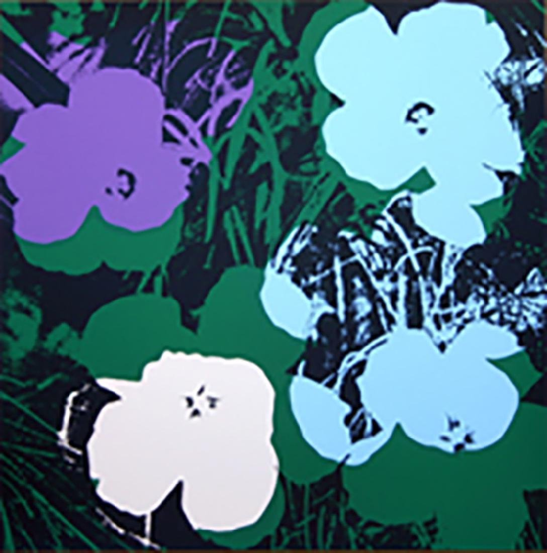 ANDY WARHOL FLOWERS 11.64 SERIGRAPH SUNDAY B. MORNING