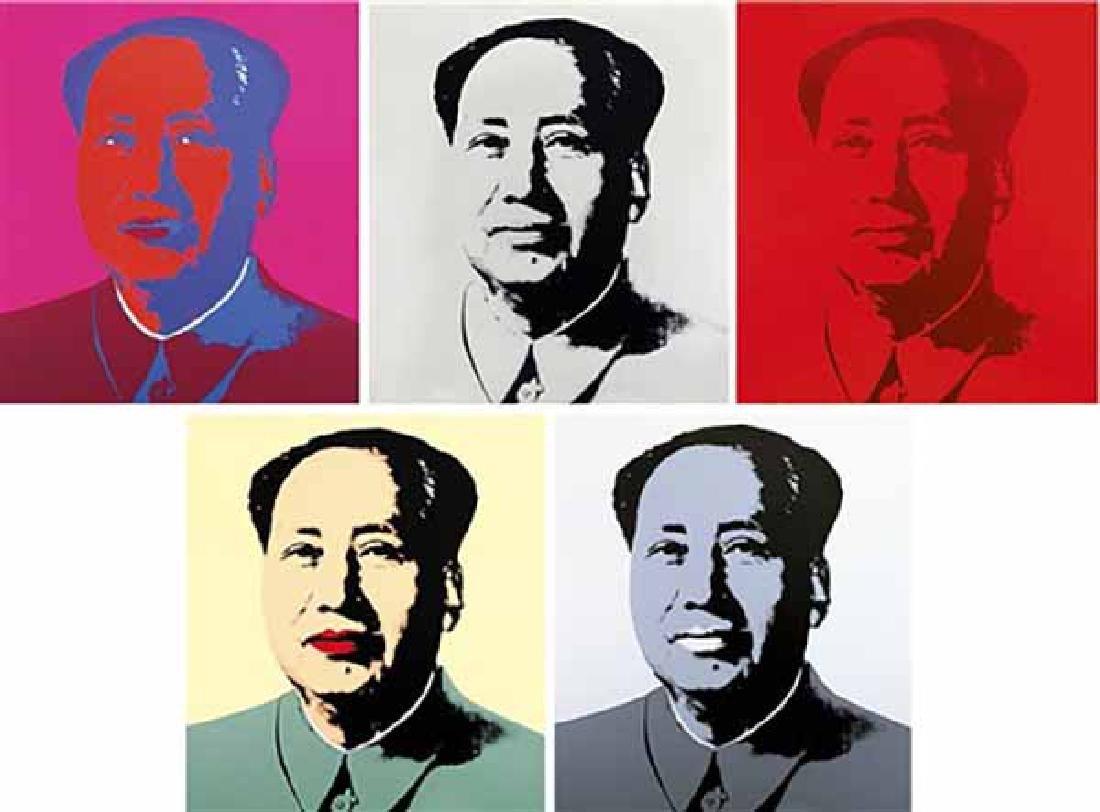 "Andy Warhol ""Mao"" Suite of 5 Sunday B. Morning"