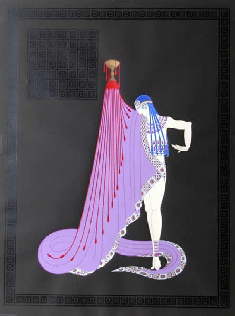 Erte, The Slave, 1983 Serigraph Proof on paper, Framed