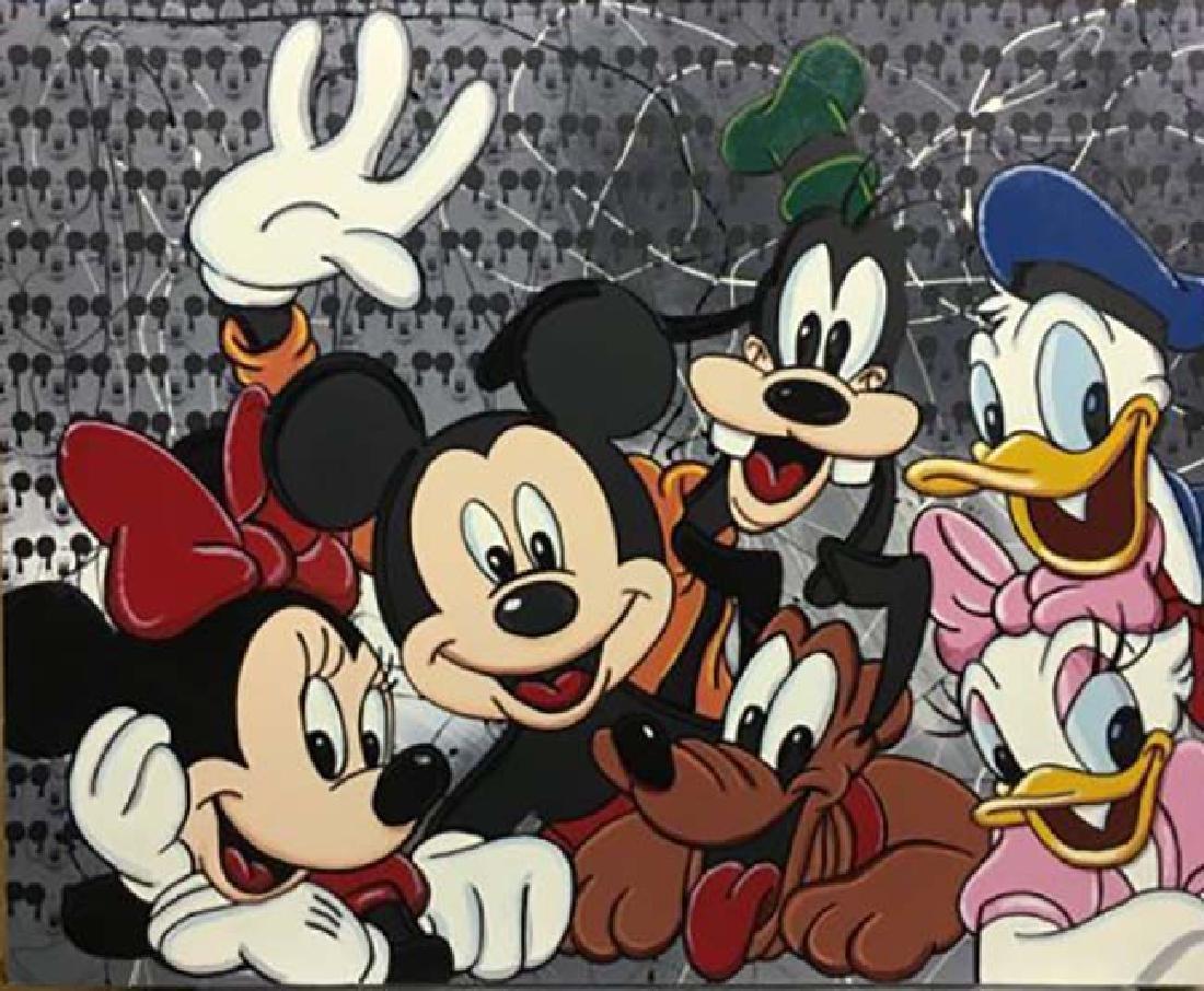 Steve Kaufman SAK Pop Art Mickey Mouse Minnie Goofie