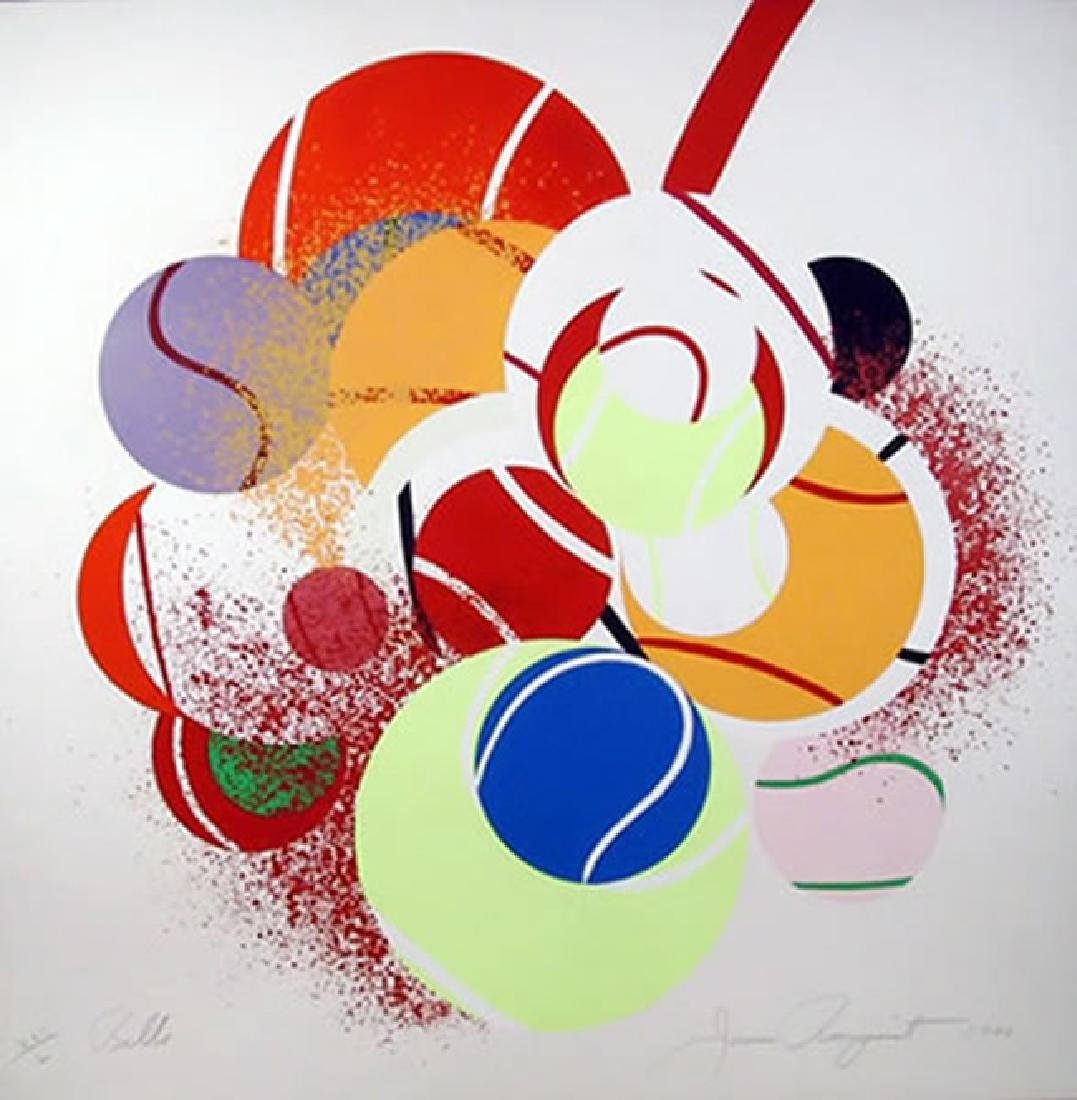 James Rosenquist, Balls Serigraph signed and numbered