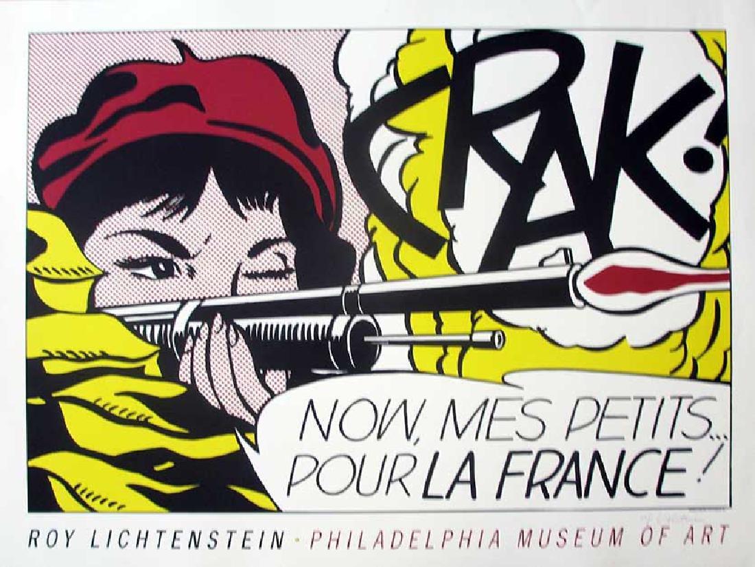 Roy Lichtenstein Crak!, 1964 Screenprint, Hand signed