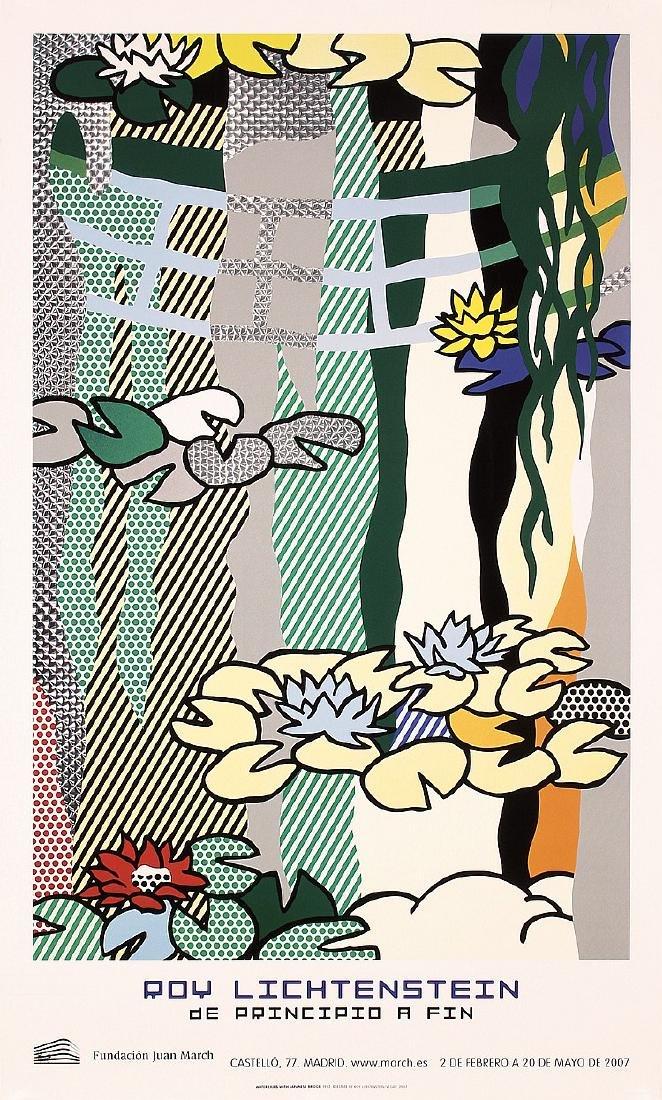 ROY LICHTENSTEIN Modern Art silkscreen Poster, Water