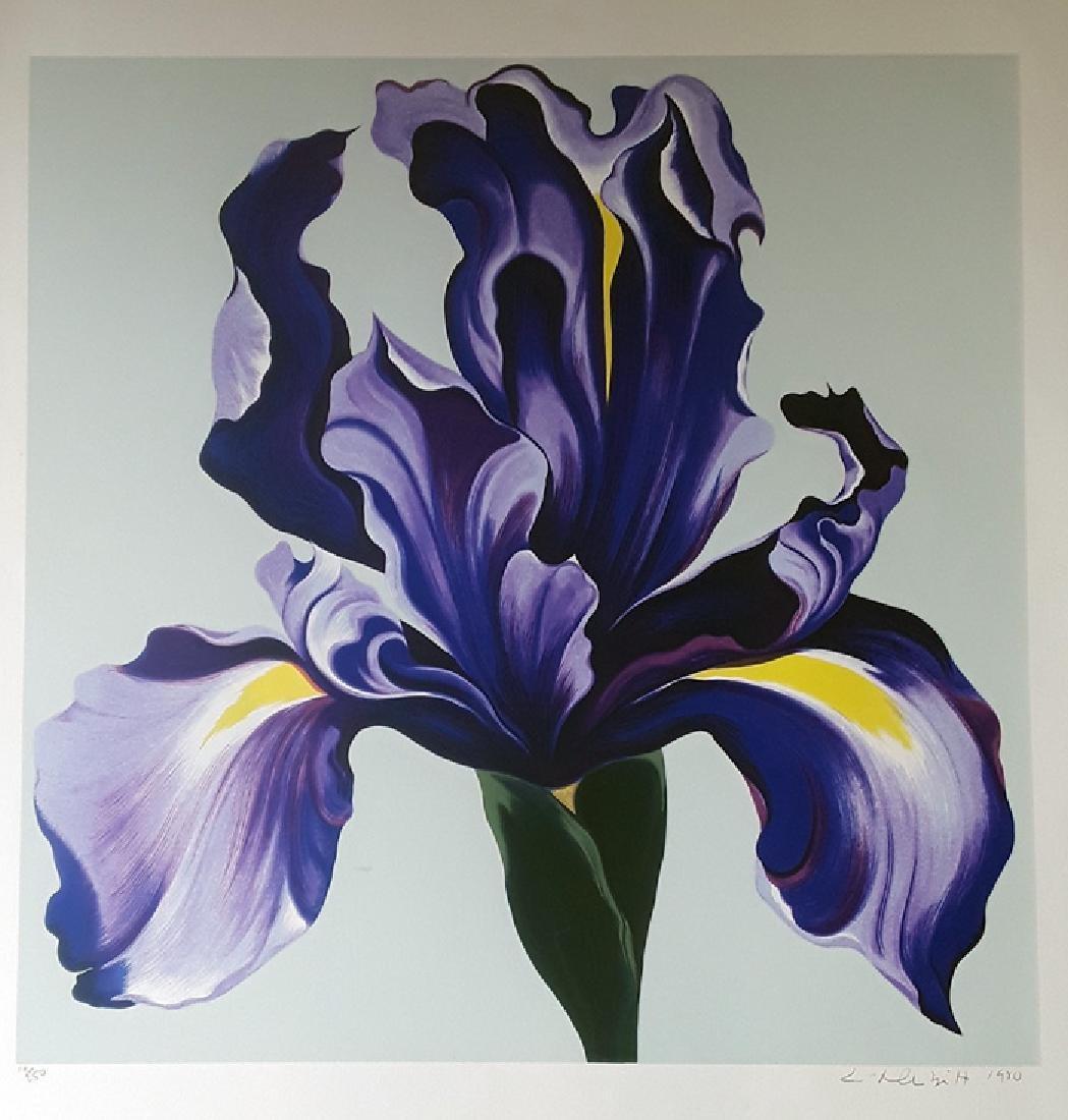 """Lowell Nesbitt """"Iris"""" HS/N Lithograph"""