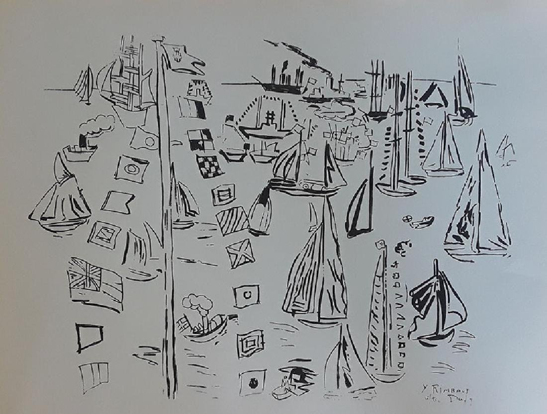 Raoul Dufy, Regatta at Cowes, Lithograph Plate signed
