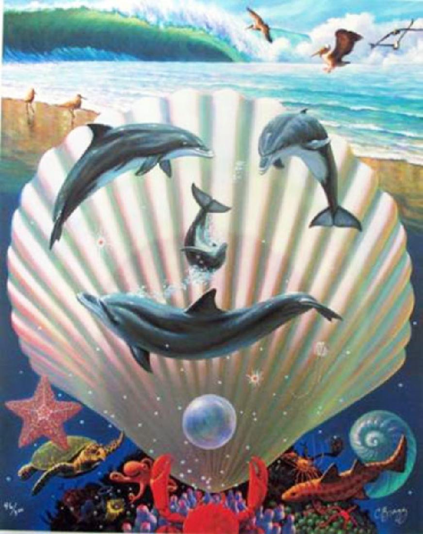 "Charles Lynn Bragg \""Dolphin Symphony\"" Hand Signed &"