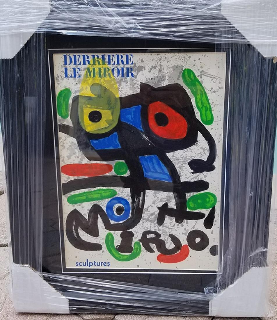 Joan Miro, Original Lithographic Bookplate Framed