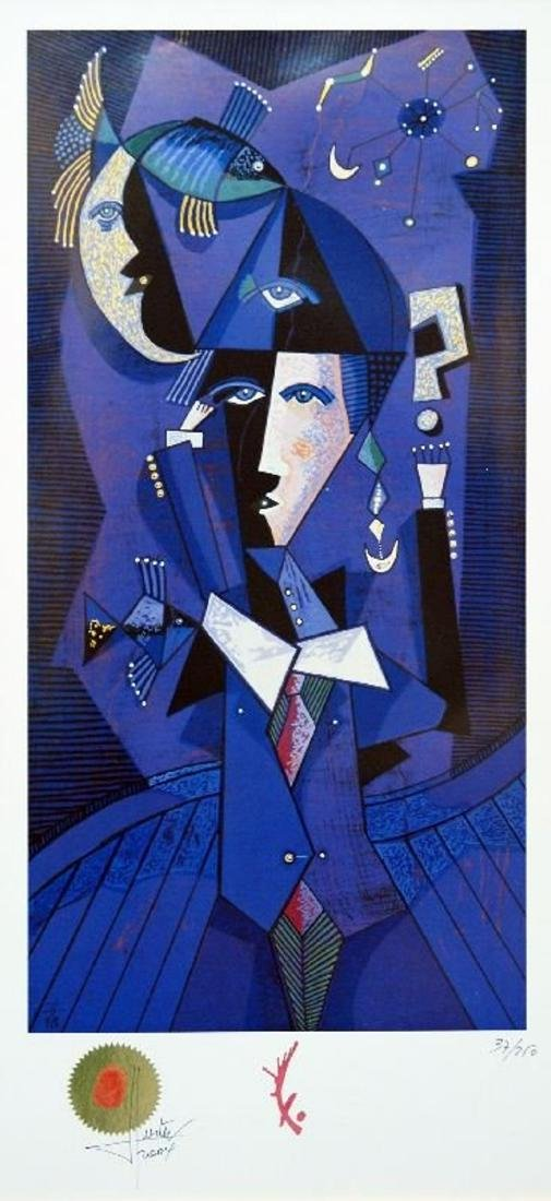 The Blue Magician by Jesus Fuertes - Lithograph HS/N