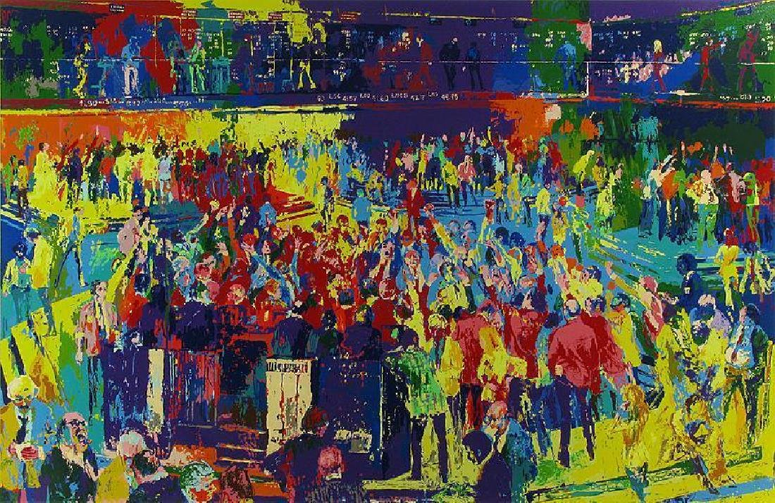 Leroy Neiman Chicago Board of Trade Hand Signed & #