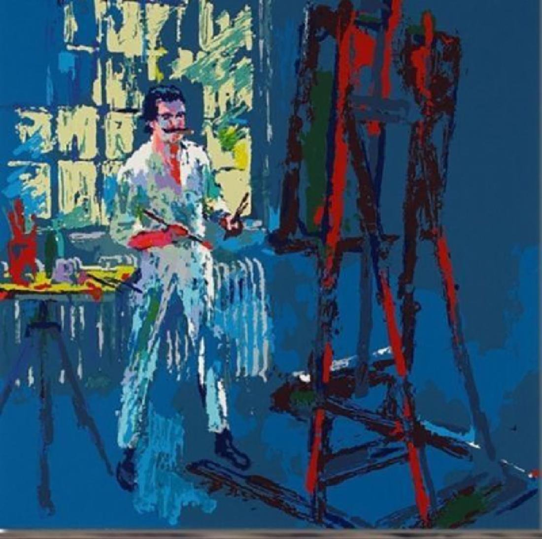 "Leroy Neiman ""Self Portrait"" Neiman painting himself"