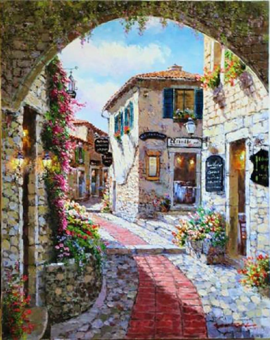 "Sam Park ""Eze Village"" Original Oil on Canvas"