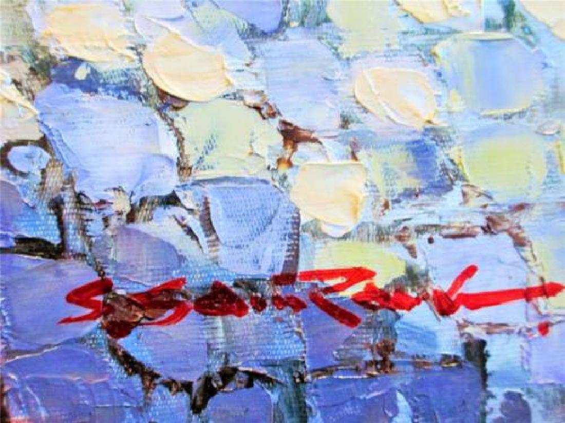 "Sam Park ""Eze Village"" Original Oil on Canvas - 2"