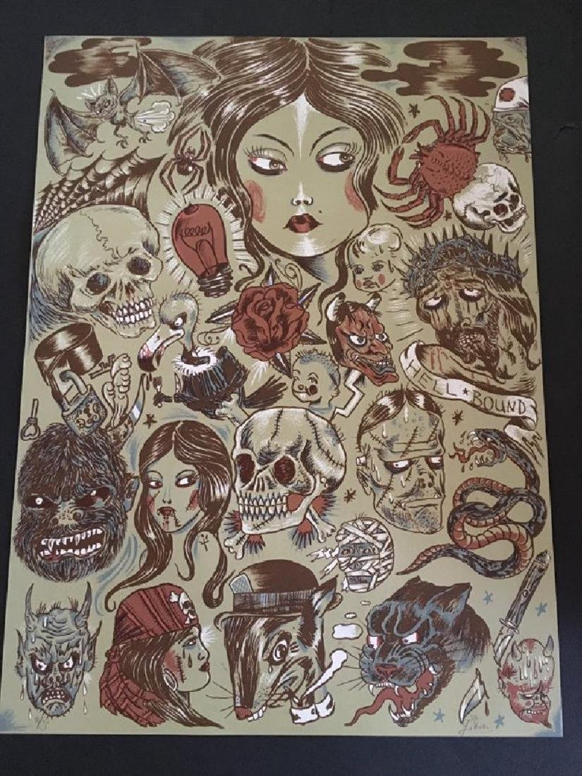 Dr. Lakra - Sin Titulo 10 HS/N Original Lithograph 200