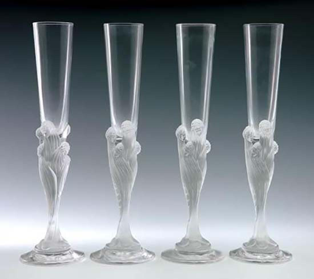 Erte Champagne Flutes Set of Four
